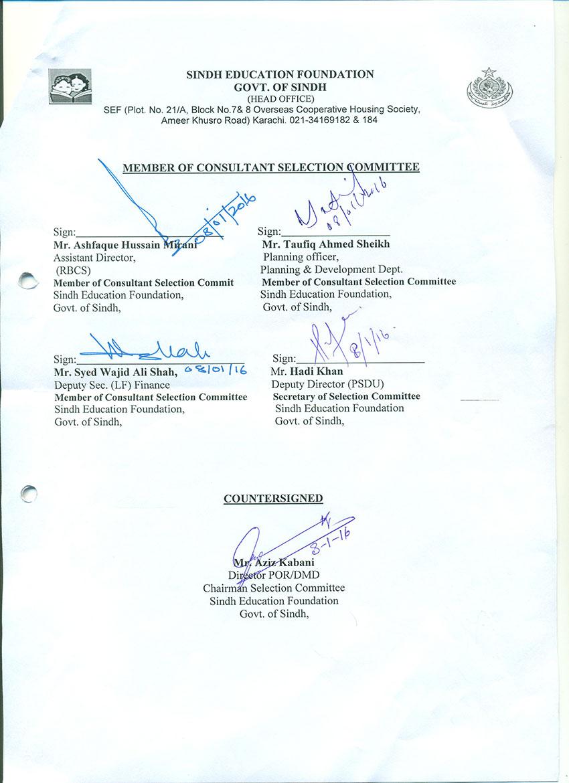 SINDH EDUCATION FOUNDATION (Govt of Sindh)